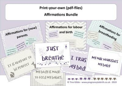 Affirmations Bundle (zip file containing pdf files)