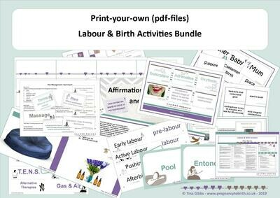 Labour & Birth Bundle - print your own (zip file containing pdf files)