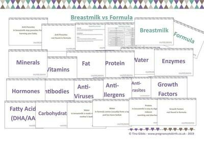 Breastmilk vs Formula milk - compare the ingredients