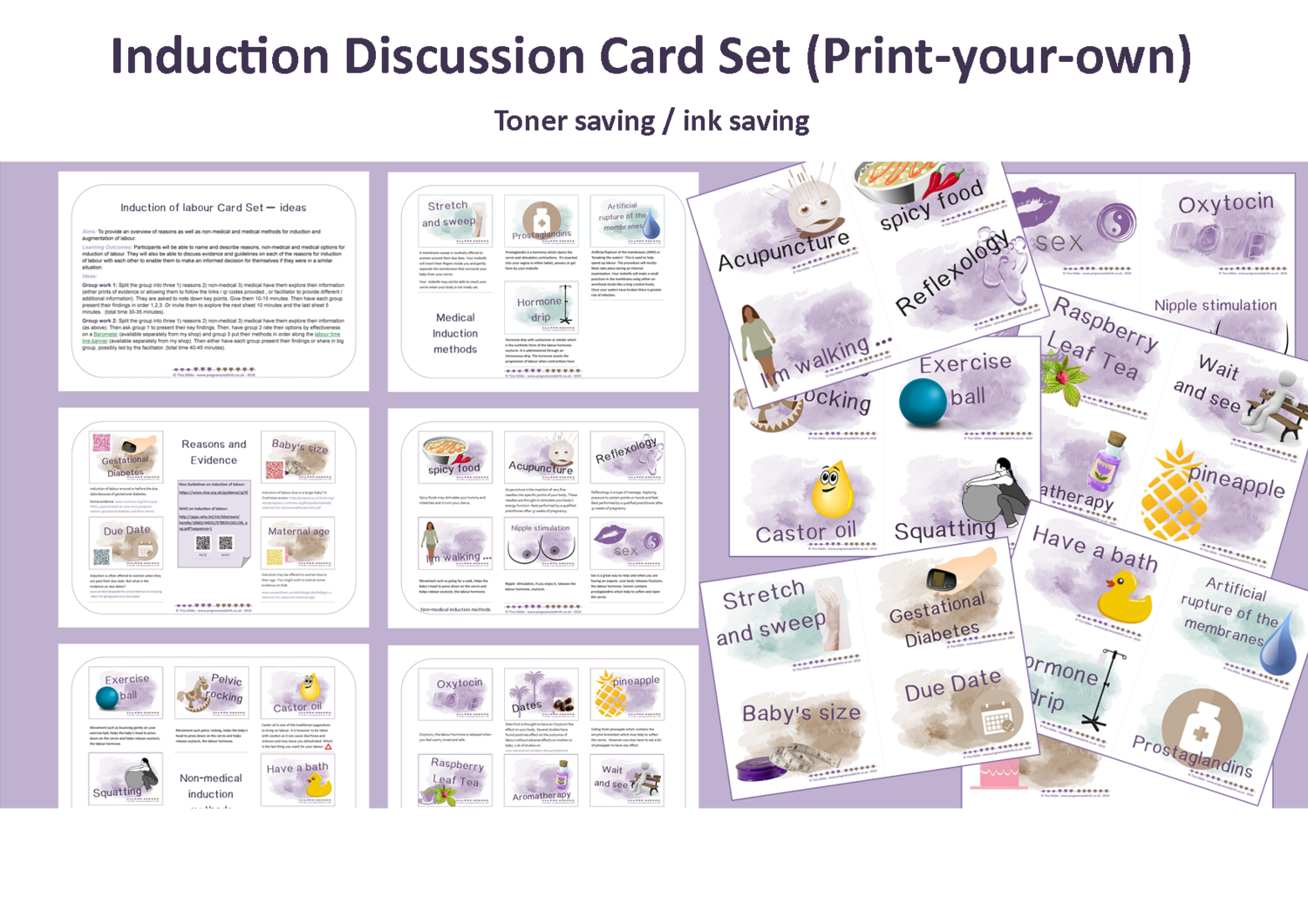 Induction of labour - Print-your-own pdf - ink save