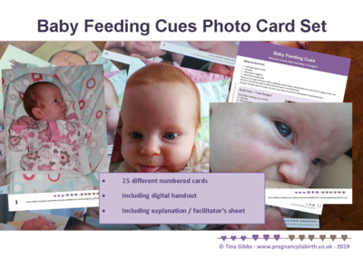 Baby Feeding Cues photo card set - 330gsm cards