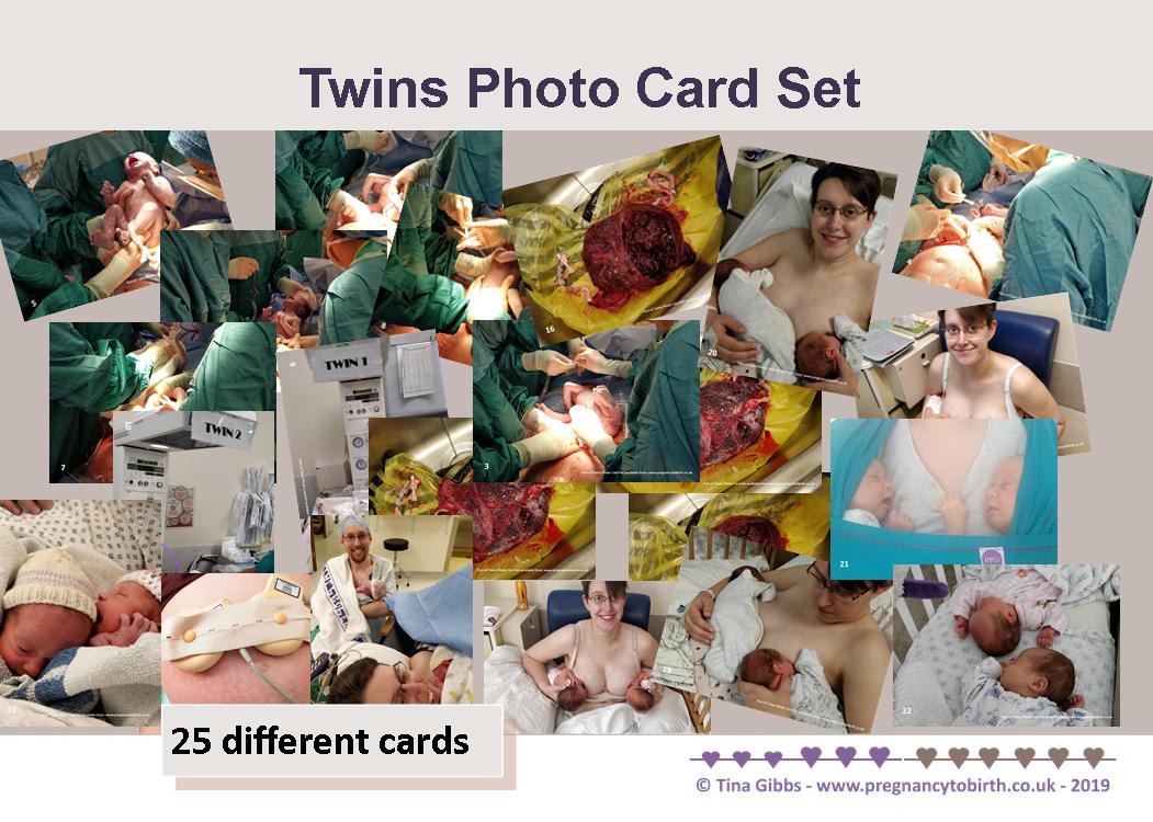 Twins photo card set - 330gsm cards