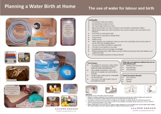 Handout: Waterbirth at home (print-your-own)