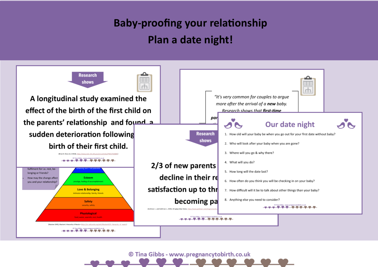 Baby-proofing your relationship - plan a date night (print-your-own)