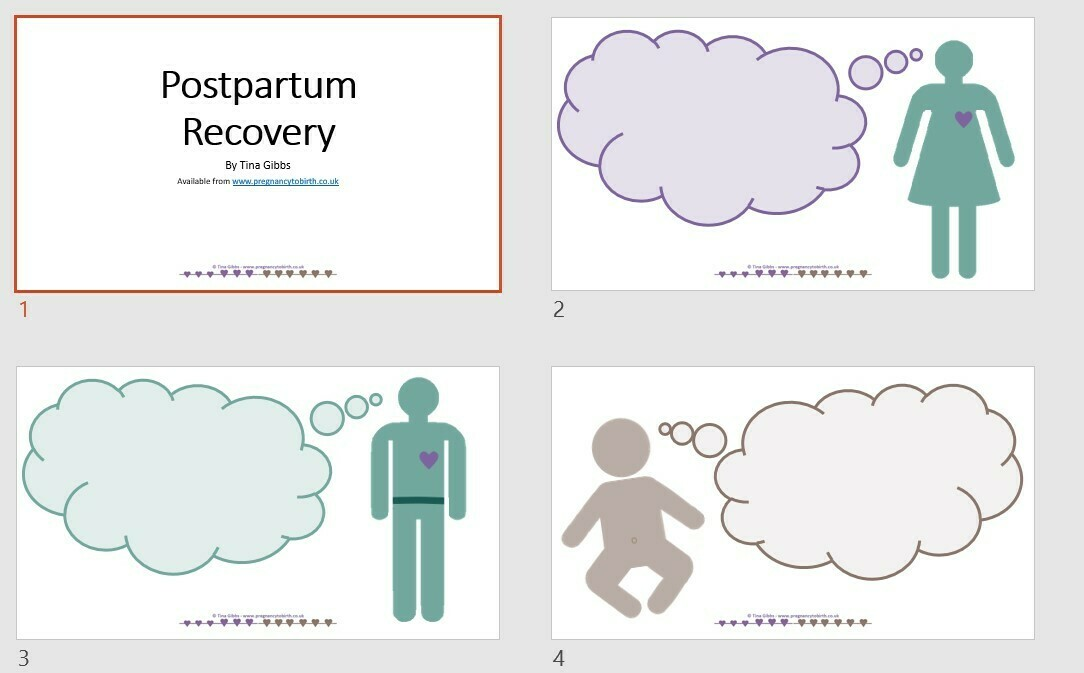 Postpartum Recovery, Postnatal thoughts and feelings - PowerPoint for online learning