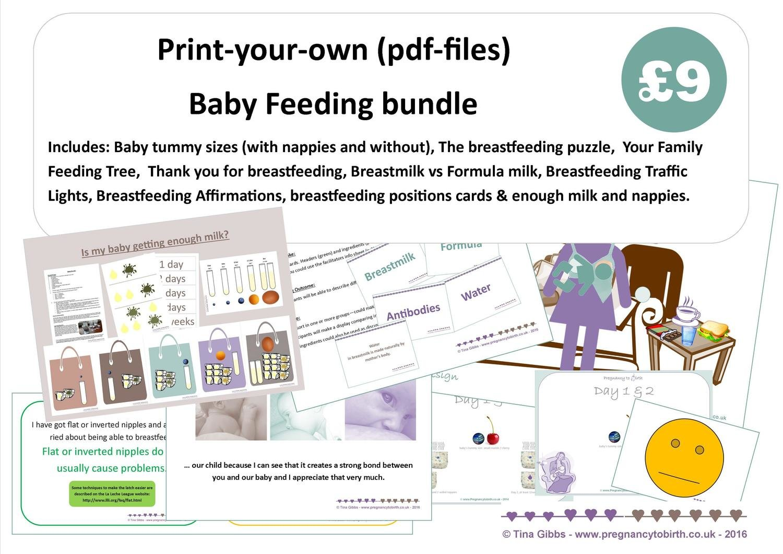 Baby Feeding Bundle (zip file containing pdf files)