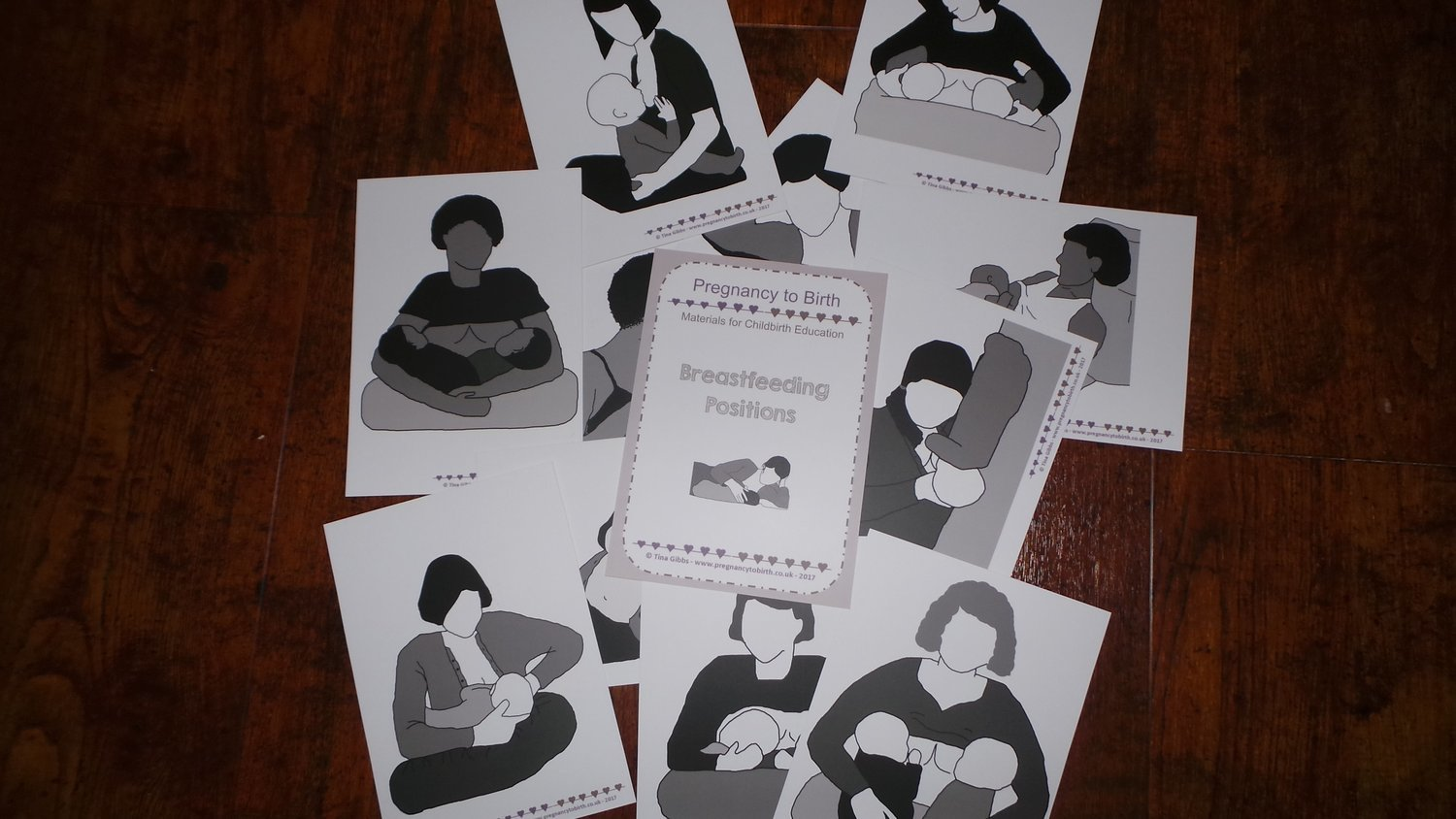 Breastfeeding Positions - large 12.7 x 17.8cm cards
