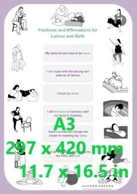 Positions and Affirmations - A3 poster