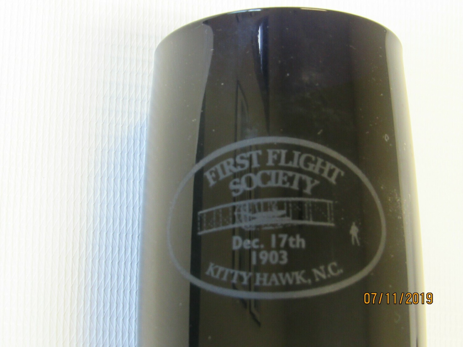 First Flight Society Champagne Glass, Black