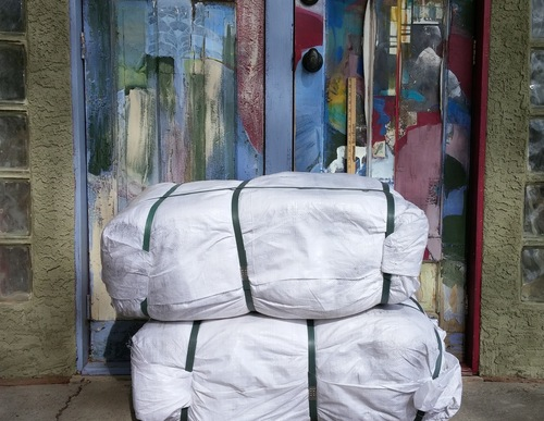 """1,000 poly bags, 14""""x26"""", 4 colors 