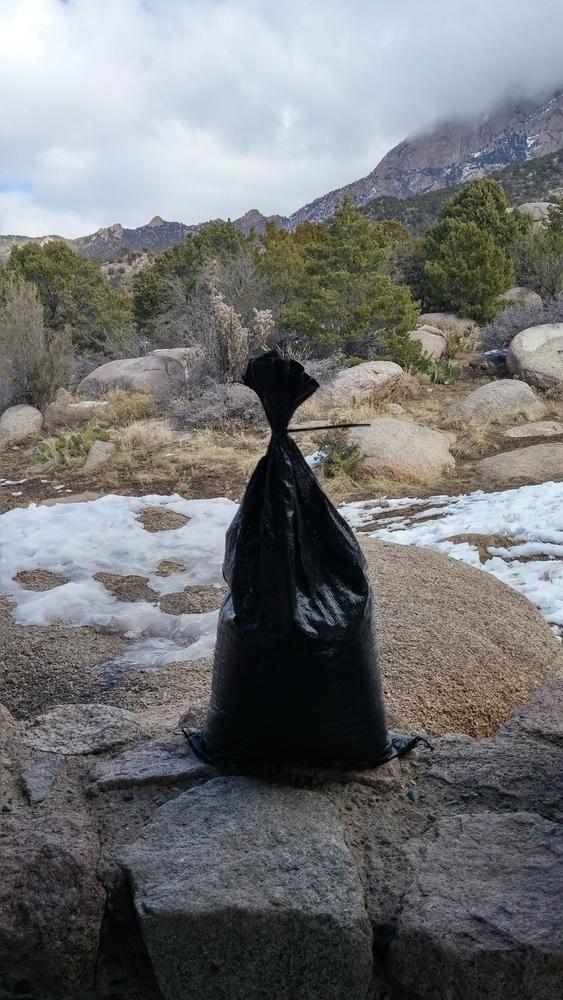 "10-pack 4-year HD polypropylene sandbags, empty, 14""x26"" @ $1.00 each"