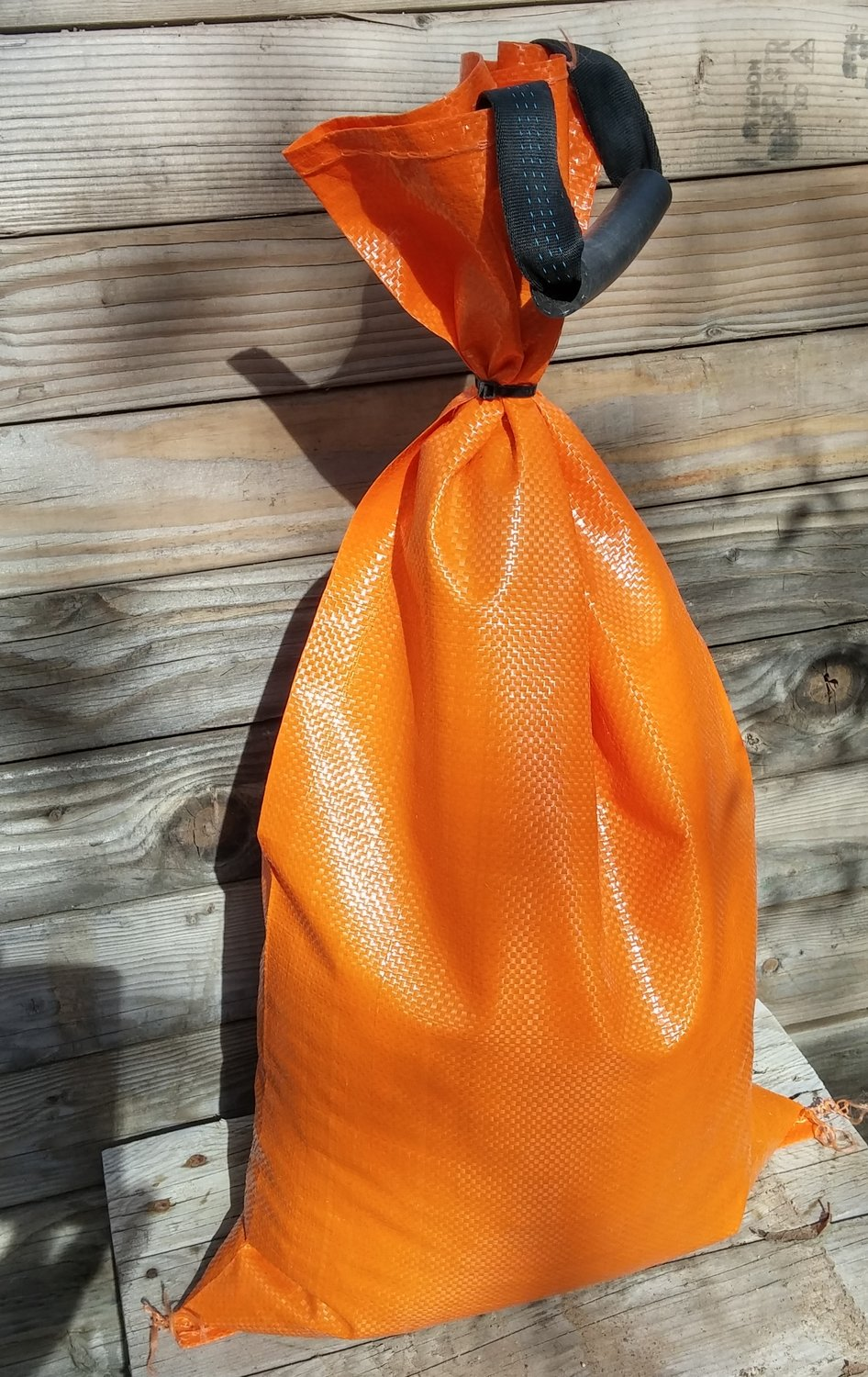 "Individual 4-year HD polypropylene sandbags, empty, 14""x26"" / four colors / 1-9 count, $2.00 each"