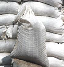 10-pack white polypropylene sandbags, empty, 14