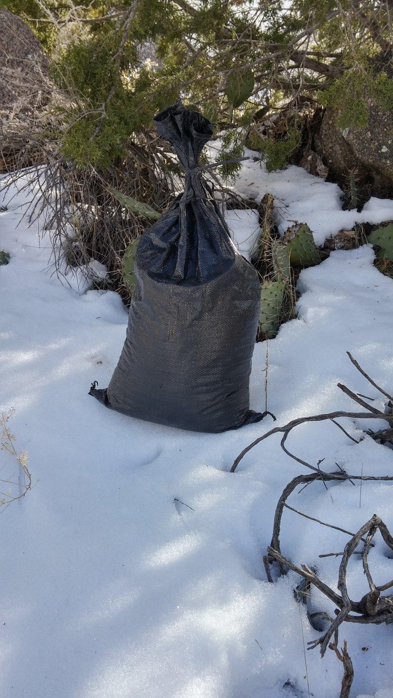 "100-pack 4-year HD polypropylene sandbags, empty, 14""x26"" @ $0.90 each"
