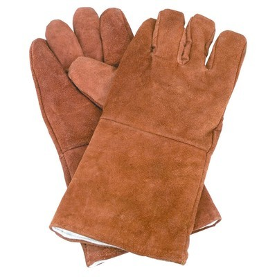 Leather gloves with 14