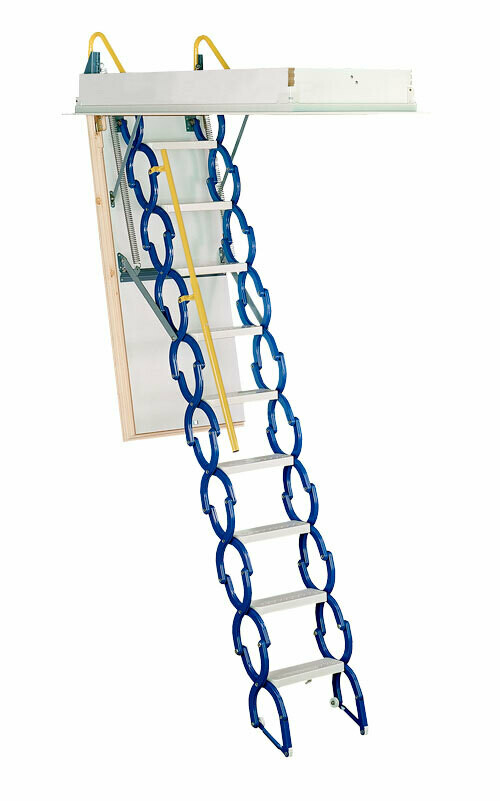 Rainbow Prestige Telescoping Attic Stair - Blue M2554