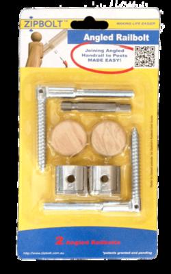 Zipbolt Angled Rail Bolt (11.560) 2 Pack