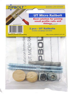 Zipbolt UT Micro Railbolt for Small Profile Rails (16.610) 2 Pack