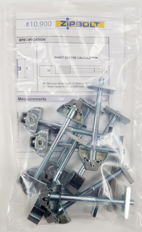 Zipbolt UT Drawbolt  Counter Top Fastener (10.900) Multipack