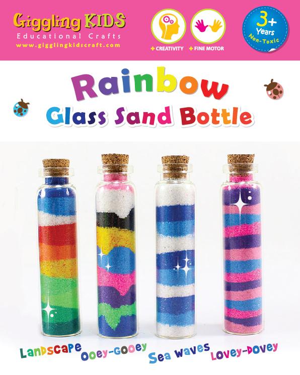 Party Bag Idea: 10 Sand Bottle kits PB - 1