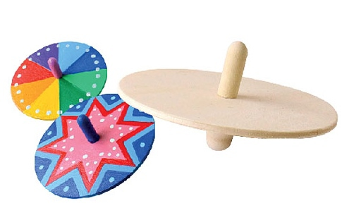 Cool Wooden Spinners (Pack of 6) WC - 03