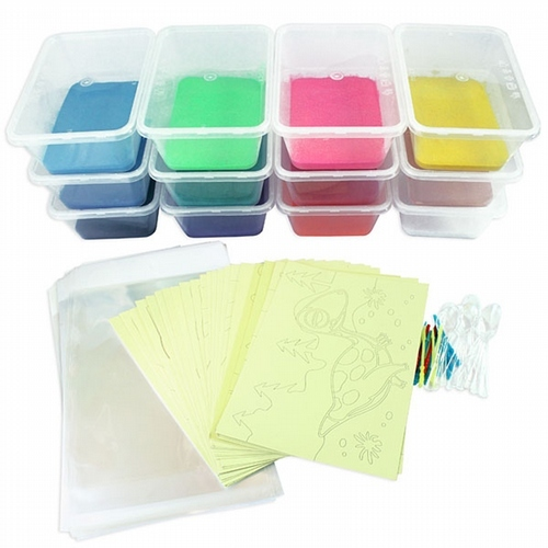 A Sand Art Party Kit 20 Medium Cards SA - BP3