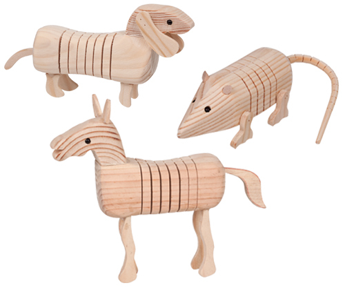 *New* Wooded Farm Animals (set of 3) WC - 014