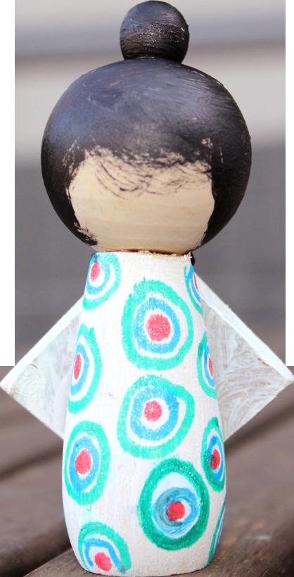 Wooden Kokeshi Doll (Paint Me) Kit