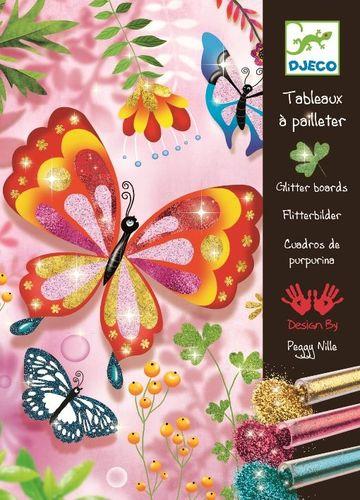 """Djeco Glitter Boards """"Butterflies"""" Kit DJ010"""