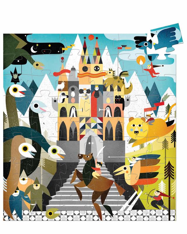 """Djeco Puzzle """"Fantastic Castle"""" 54 pce Kit"""