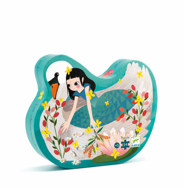 """Djeco Puzzle """"The Lady & The Swan"""" 54 pce Kit DJ024"""