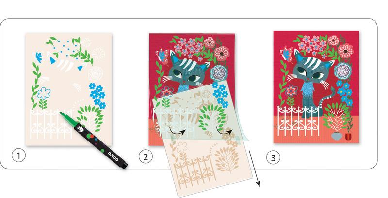 "Djeco  Chalk Markers ""Ribbon & Lace"" Kit"