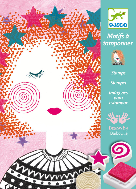 "Djeco ""Mischevious Fashion Girl Look"" Stamp kit Dj042"