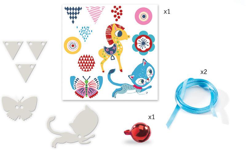 """Djeco Magic Plastics """"Kitten & Pony  Jewels"""" Kit"""