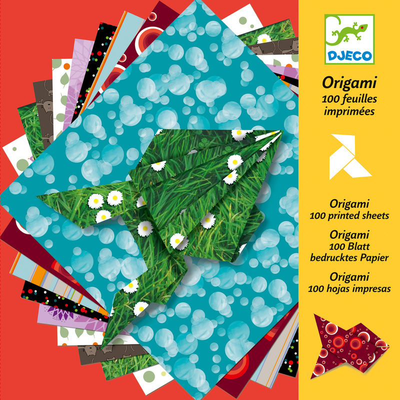 Djeco Origami Papers - 100 sheets in Rainbow Colours DJ070