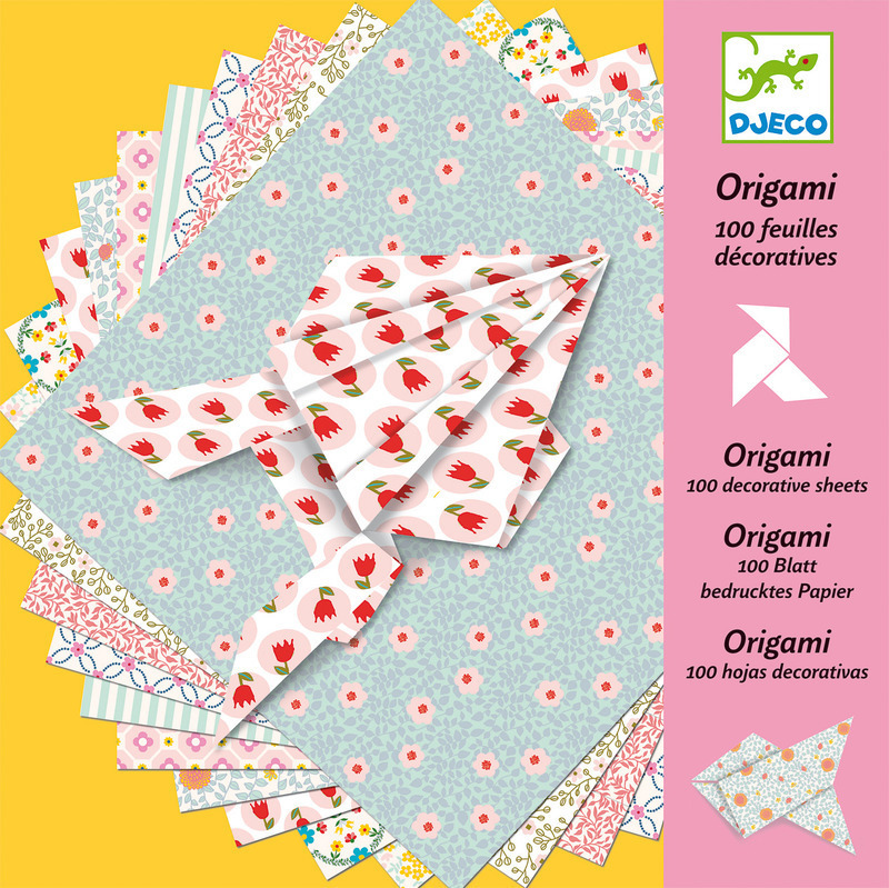 Djeco Origami Papers - 100 sheets in Pastel Colours DJ071