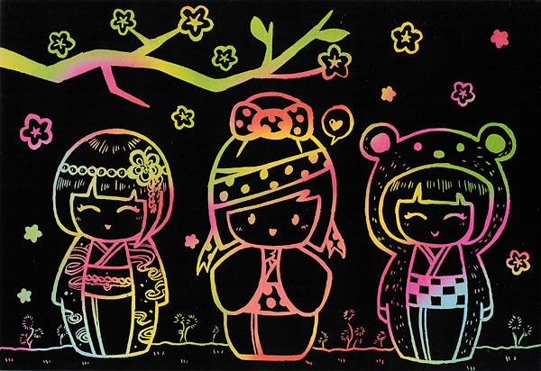 Free Large Scratch Art Stencil Kit
