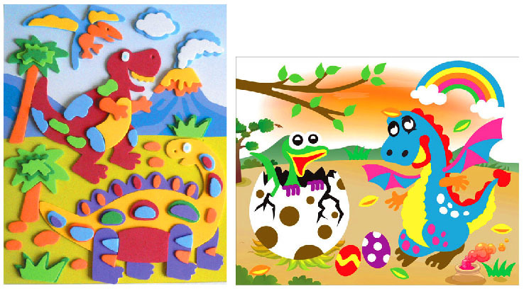 2D Foam Art - Dinosours (pack of 2) FCN-02