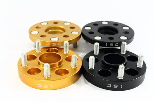 GOLD ISC 5x100 to 5x114 Wheel Adapters 25mm
