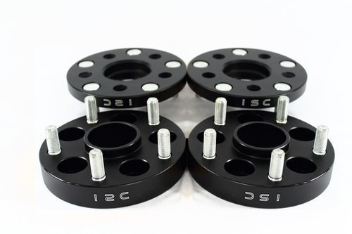 ISC 5x100 25mm Black Hub Centric Wheel Spacers (Pair) ISC-WS5x10025B