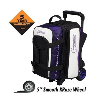 Hammer Vibe Purple/White 2 Ball Roller Bowling Bag