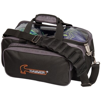 Hammer 2 Ball Tote Black/Carbon  Bowling Bag