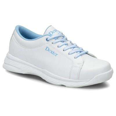 Dexter Raquel V White/Blue Wide Width Womens Bowling Shoes
