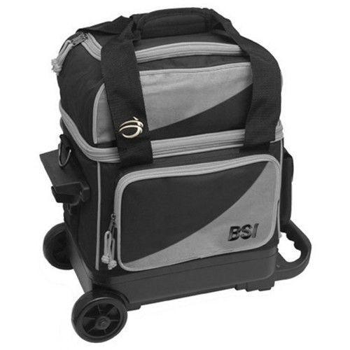 BSI Black/Grey Single Roller Bowling Bag 1347