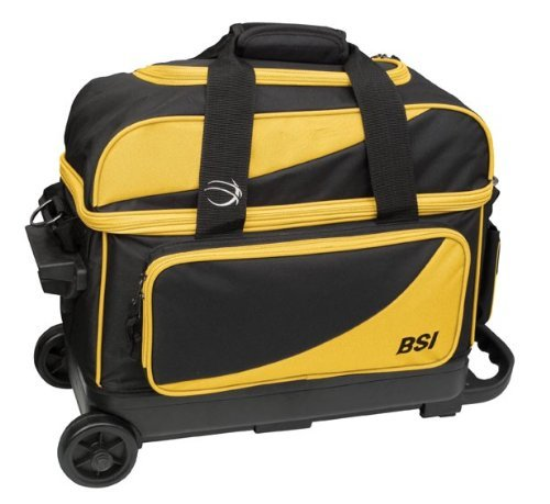 BSI Black/Yellow 2 Ball Roller Bowling Bag 1355