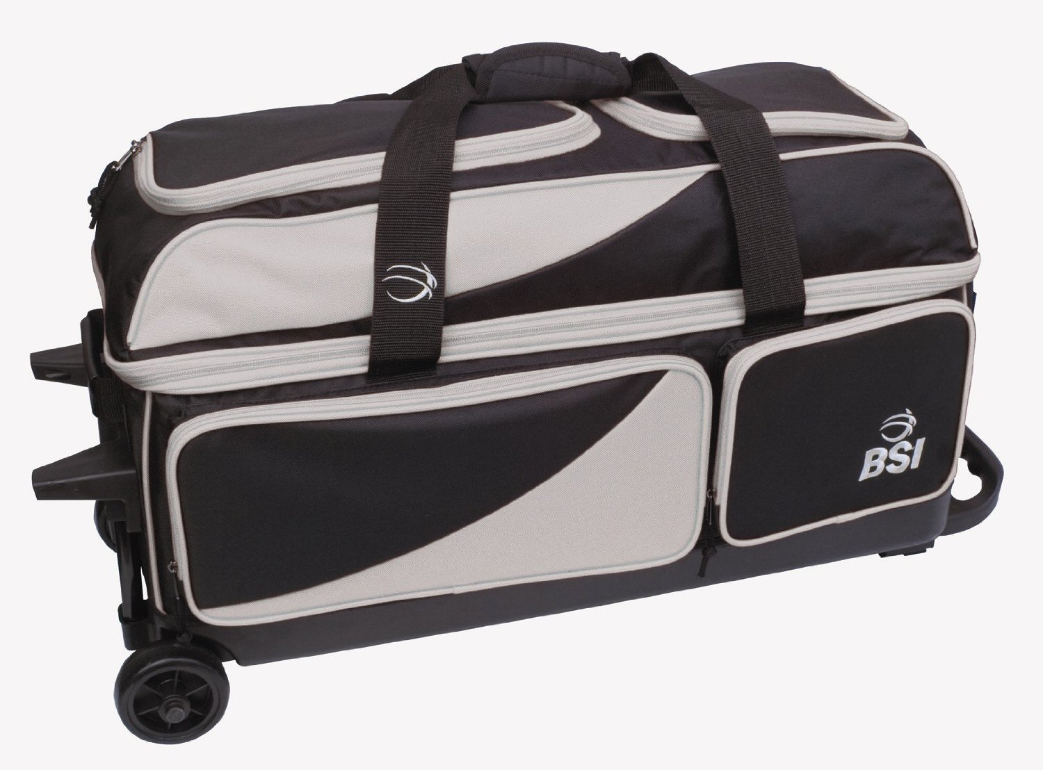 BSI Black/Grey 3 Ball Roller Bowling Bag 1362