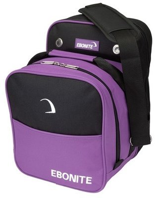 Ebonite Compact Single Purple 1 Ball Bowling Bag