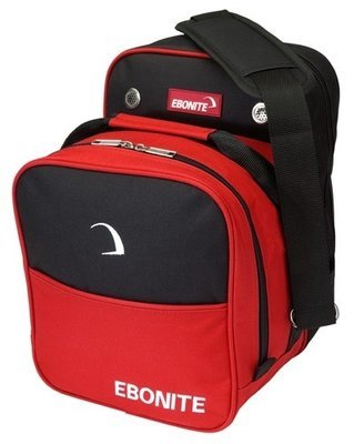 Ebonite Compact Single Red 1 Ball Bowling Bag