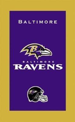 KR NFL Bowling Towel Baltimore Ravens