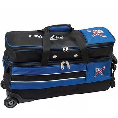 KR Royal Flush Slim Triple Tote Bowling Bag with Shoe Pocket
